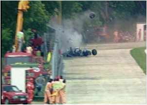 Ayrton Senna'nın kaza yaptığı an