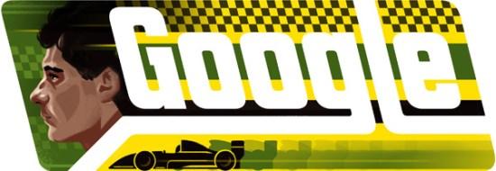 Ayrton Senna'nın 54. doğumgünü anısına yayınlanan doodle