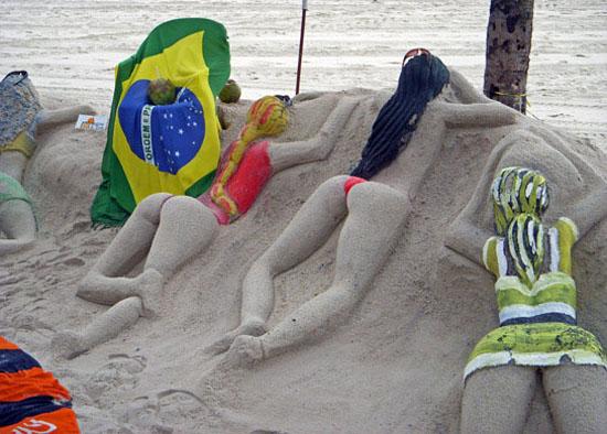 Copacabana Beach Sand Sculpture