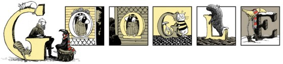 Google Edward Gorey'in 88. doğum gününü yayınladığı doodle ile kutladı