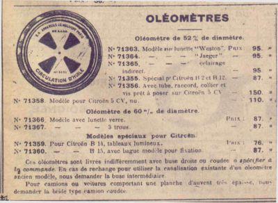 Oleometre